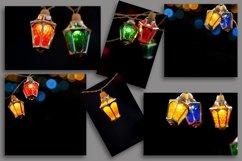 Fairy christmas lights garland on black background. Bundle Product Image 2