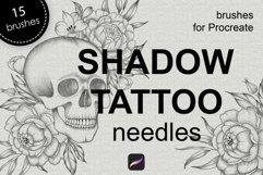 Shadow tattoo needles brushes for Procreate Product Image 1