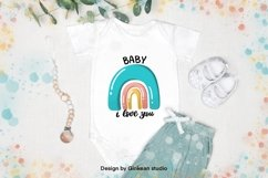 Rainbow, Welcome baby, card for baby, baby shower card Product Image 3