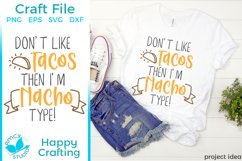 Nacho Type - A Food Lovers SVG File Product Image 1