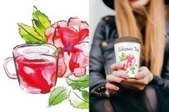 Watercolor tea vector set Product Image 5