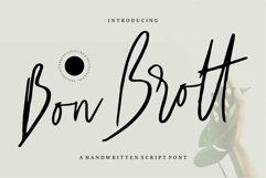 Web Font Bon Brott - A Handwritten Script Font Product Image 1