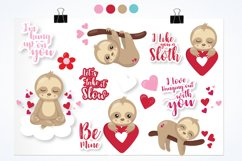 Valentine sloths graphics and illustrations Product Image 3