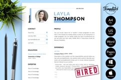 Simple Resume CV Template for Word & Pages Layla Thompson Product Image 1