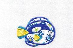 Regal Blue Pet Fish Applique Machine Embroidery Design Product Image 2