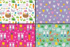 Easter Bunny Digital Paper / Bright Easter Seamless Patterns Product Image 2