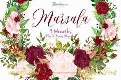 Watercolor Marsala and Blush Bundle for Weddings Product Image 6
