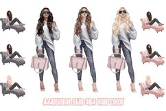 Girl Boss Clipart - Planner Fashion Clipart - Business Woman Product Image 3