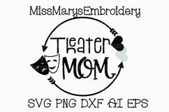 Theater Mom Arrow Monogram SVG Cutting File PNG DXF AI EPS Arts Product Image 1