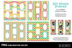 DIY Photo Frames PNGs - Tumbler Sublimation Designs 20oz Product Image 3