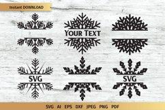 Snowflake SVG | Split Monogram SVG Product Image 1