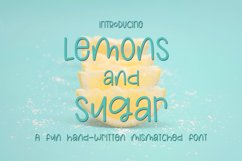 Lemons and Sugar- A Fun Hand-Written Mismatched Font Product Image 1