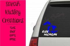 Ride Michigan Snomobile SVG Product Image 2