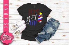 Let's Get Lit! - 4th of July design SVG, DXF, PNG cut file Product Image 2