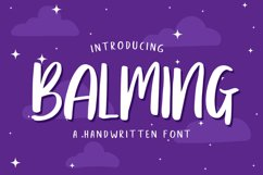 Balming - Fun brush font Product Image 1