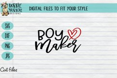 BUNDLE - Boy Mama - 11 files - heart, mom, mob, SVG cut file Product Image 4