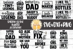Daddy and Me SVG Bundle - 20 Designs Product Image 1