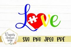 Autism Love | Autism | SVG Cutting File Product Image 1