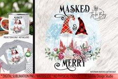 Pandemic Christmas Gnomes Sublimation Bundle Masked & Merry Product Image 6