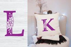 Floral Alphabet SVG, 26 Letters Product Image 3