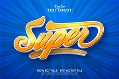 Super text, cartoon style editable text effect Product Image 1