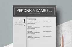 Resume | CV Template Cover Letter - Veronica Cambell Product Image 3