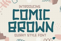 Comic Brown - Quirky Display Font Product Image 1