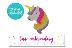 Unicorn Machine Embroidery Design, Animal Embroidery Product Image 1