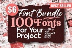 Best Seller - Mega Bundle 100 Fonts Product Image 1