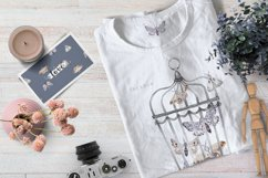 MOTHS and BIRDCAGE watercolor set Product Image 5