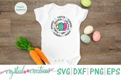 Easter Round SVG, DXF, PNG, EPS Product Image 2
