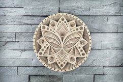 Layered Mandala SVG, Laser cut file Mandala, 3D Lotus Product Image 1
