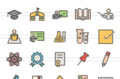 150 Academics Filled Line Icons Product Image 4