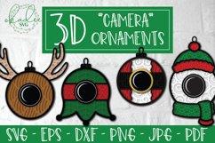 3D Santa Cam Ornament SVG, Christmas Camera Bundle, Elf DXF Product Image 1