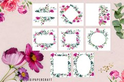 Watercolor floral frames, floral clipart, romantic borders Product Image 4