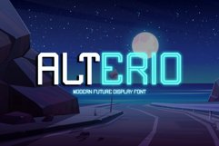 Alterio || Modern Display Font Product Image 1