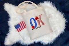 State abbreviation. USA sublimation. Oklahoma Product Image 3
