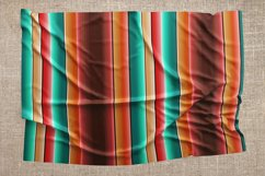 Blanket stripes seamless pattern. Serape mexican background. Product Image 4