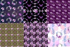 Mini bundle of watercolor seamless patterns.Digital paper Product Image 6
