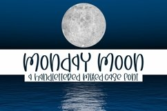 Web Font Monday Moon - A Handlettered Mixed-Case Font Product Image 1
