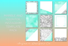 Marble and Aqua Foil Instagram Template Pack Product Image 1