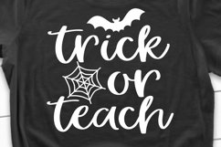 Trick or Teach SVG, DXF, PNG, EPS Product Image 1