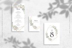 Geometric Foliage Wedding Invitation Suite Product Image 4
