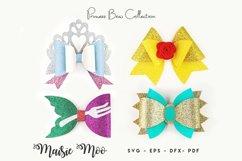 Princess Bow SVG, Crown Bow Template SVG, Tiara Hair Bow, Product Image 1