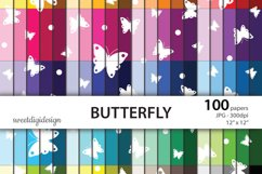 Scattered butterflies digital paper Product Image 1