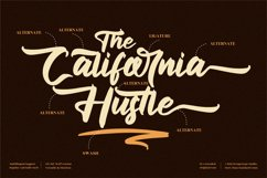 The California Hustle - Modern Script Font Product Image 2