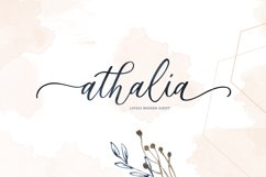 Athalia - Modern Calligraphy Script Product Image 1