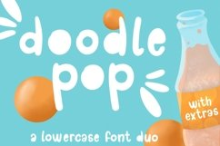 Doodle pop - a cute interchangeable lowercase font duo Product Image 1
