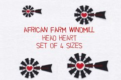 Red Heart Top Windmill Machine Embroidery File Product Image 1