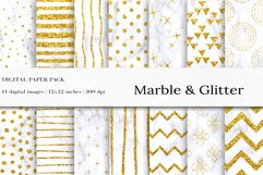 Glitter Marble Seamless Pattern, Glitter Digital Papers Product Image 1